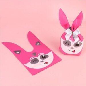 Pink Rabbit Ears Birthday Party Bag Goodies Bag - Winked - 06