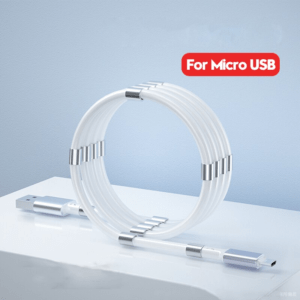 Magnetic Self Winding Micro USB Charging Data Cable for Smart Phone and Tablets - 03